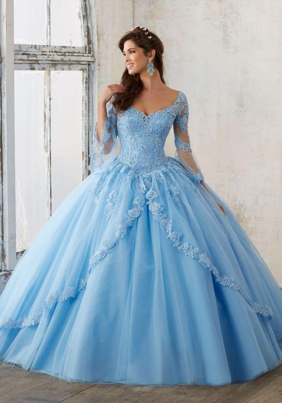 Fotos de vestidos de xv color azul