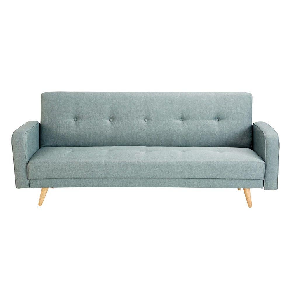 Canape Clic Clac 3 Places Vert D Eau Sofa Bed Sofa Sun Lounger