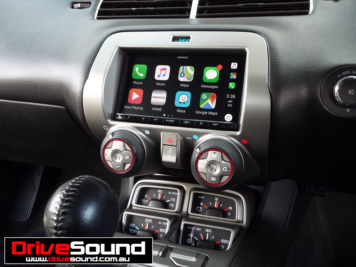 Chevrolet Camaro with Apple CarPlay installed by