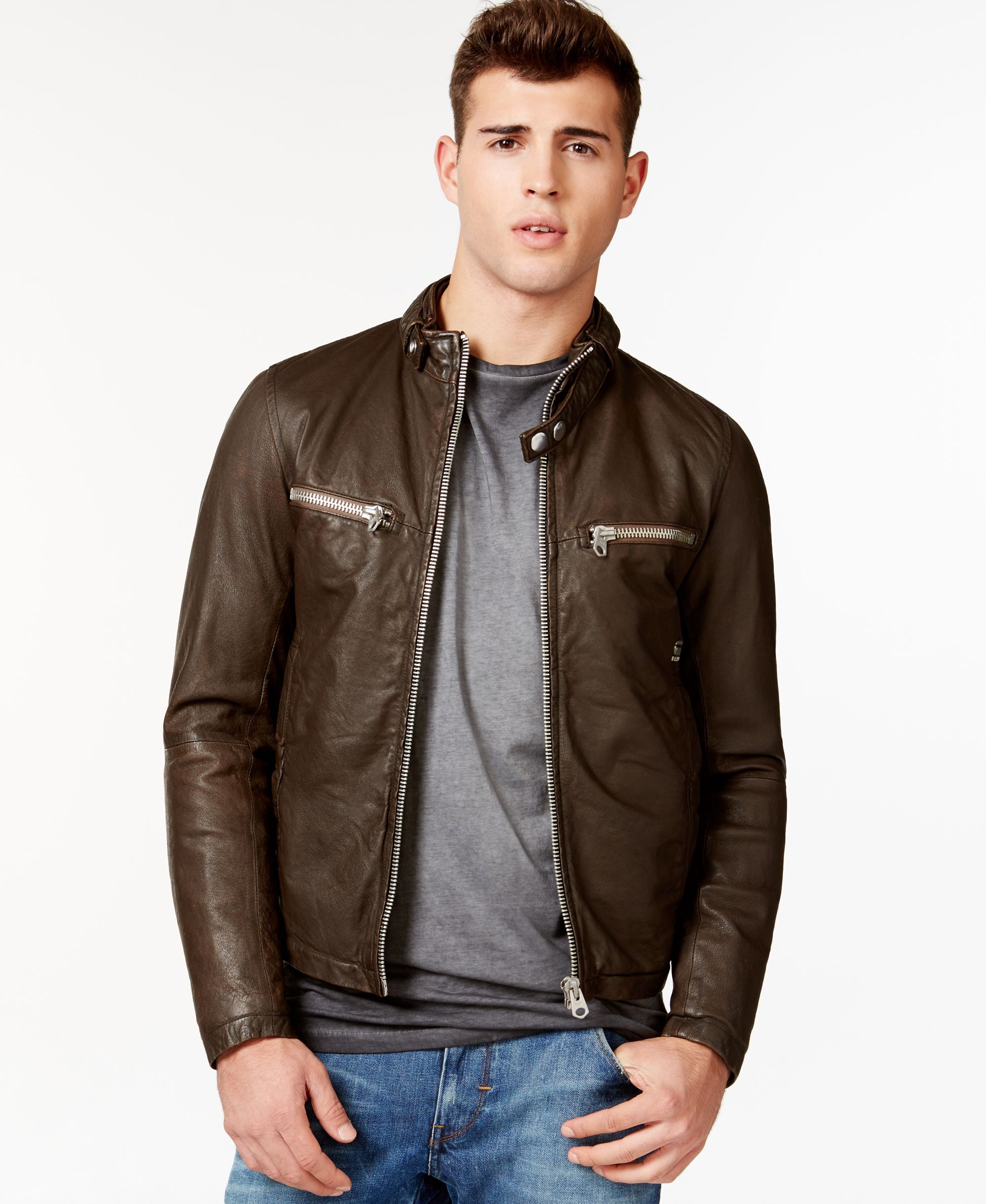 G Star Raw Engine Leather Jacket Leather Jacket Jackets Leather Jackets Online [ 2378 x 1947 Pixel ]
