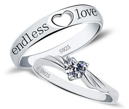 matching promise rings for men and women endless love