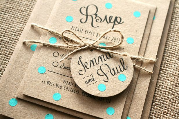 Rustic wedding stationery from Etsy