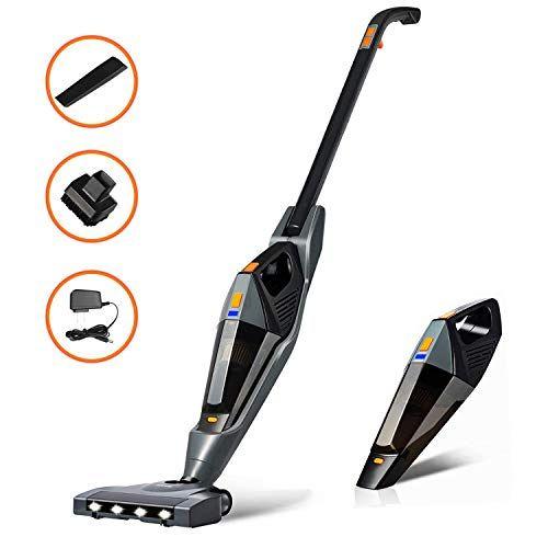 Cordless Vacuum Hikeren 12000 Pa Stick Vacuum Cleaner 2 In 1 Lightweight Rechargeable Bagless Stick And Handheld Vacuum For Carpet Hardwood Floor Pet Hair In 2020 Cordless Vacuum Vacuum Cleaner Vacuums