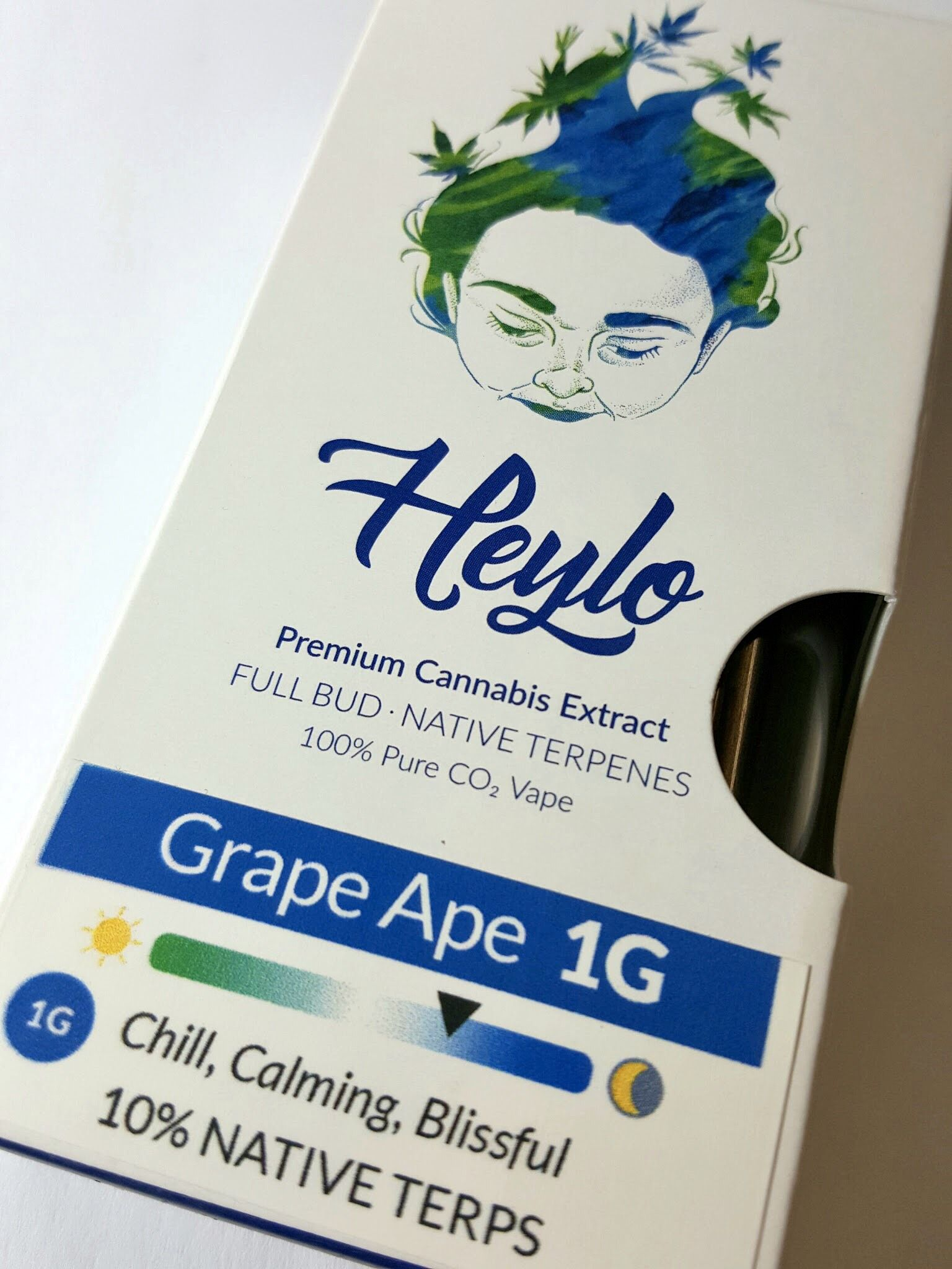 Heylo Grape Ape vape cartridge for a chill, calming, and blissful