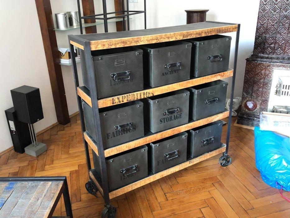 Metalowo Drewniany Regal W Stylu Loft Krakow Stare Miasto Olx Pl Locker Storage Storage Furniture