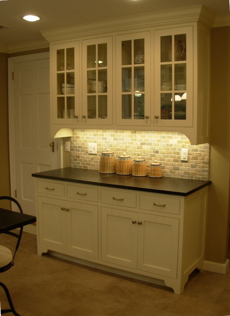 Cabinets - Inset painted maple (Oxford Cabinet Shop) * Backslash ...