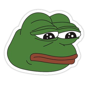 Funny meme pepe frog stickers