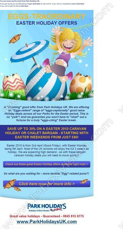 Company Park Holidays Uk Ltd Subject EggsTraordinary Easter