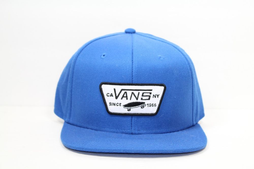 e74bef3c8e4 ... Vans Off The Wall Hat Royal Blue Snapback Adjustable One Size Fit All  Skateboard eBay new ...