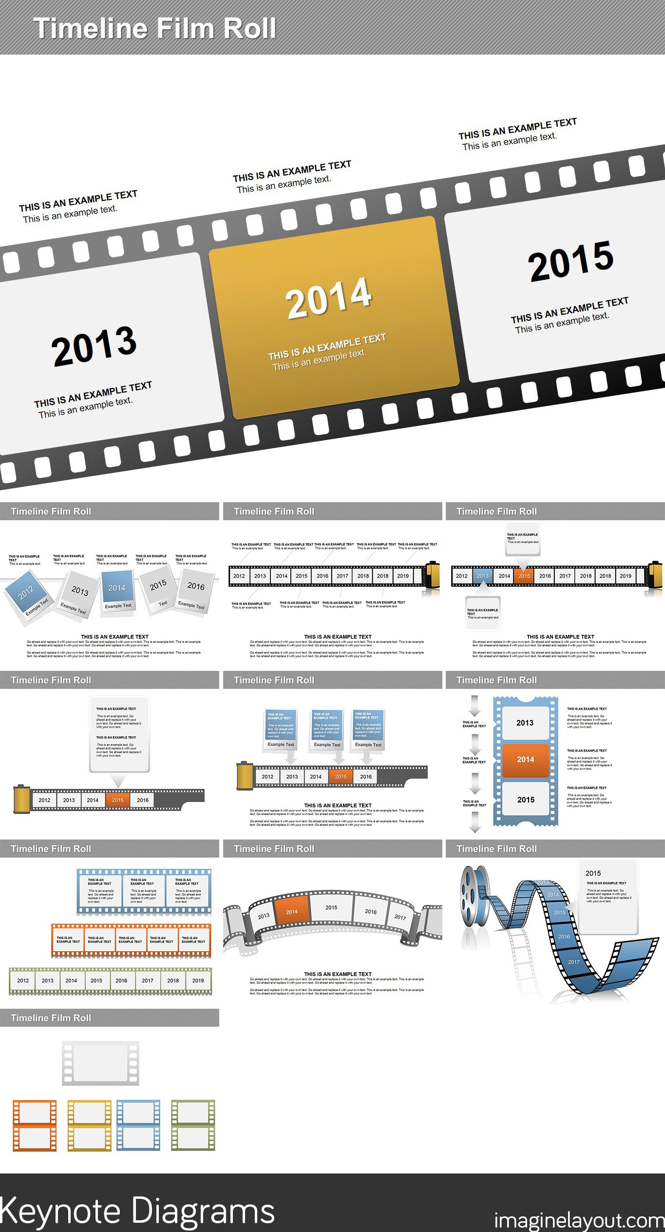 Timeline Film Roll Keynote Diagrams   Keynote Diagrams   Pinterest ...