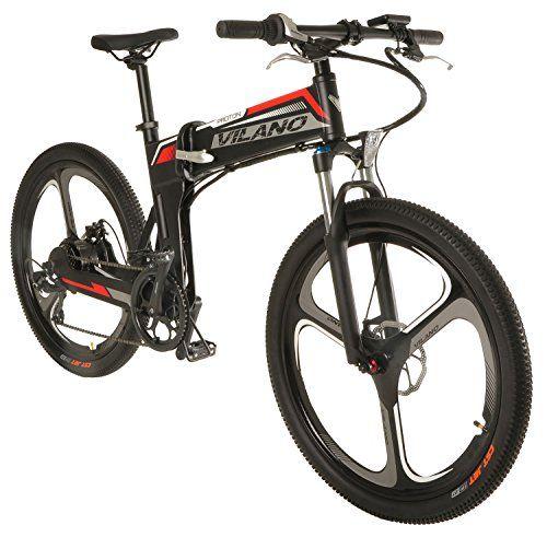 Vilano Proton Electric Folding Mountain Bike 26inch Mag Wheels