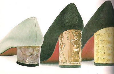 CHRISTIAN LOUBOUTIN Zuecos granate