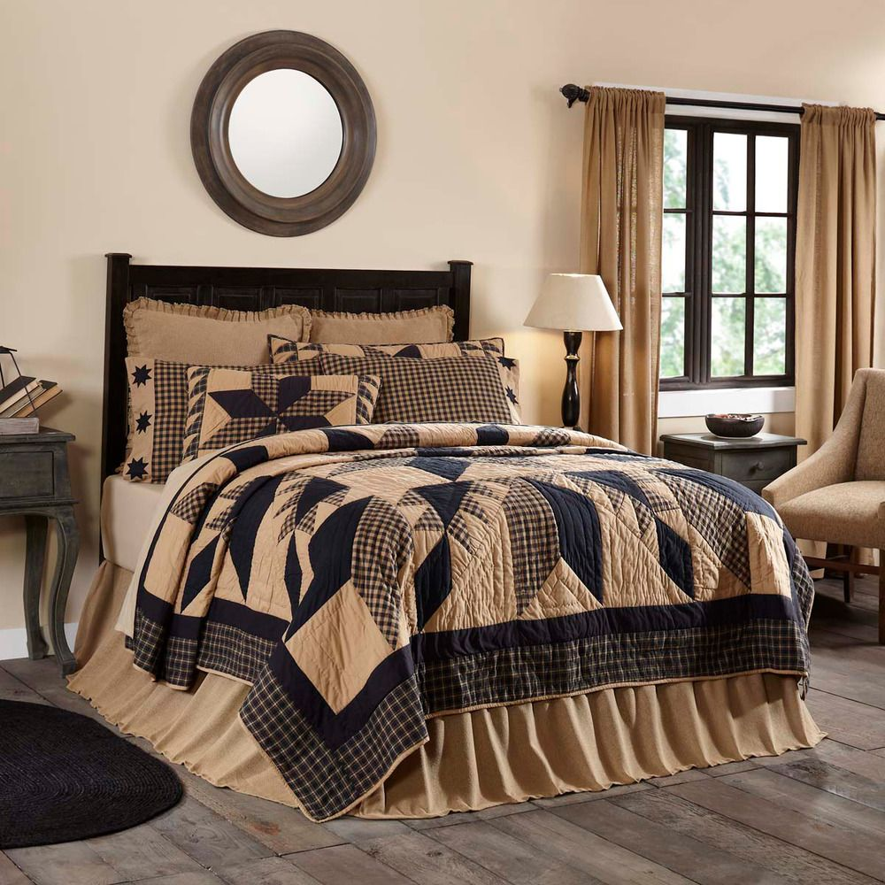 sets collection khaki western barbed star lone bedding comforter wire chocolate