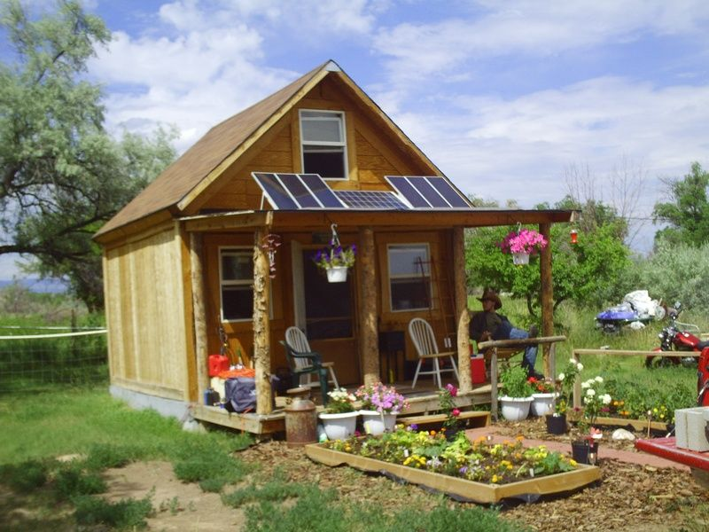 2k is all it took to build this tiny off grid home this for Self sufficient home designs