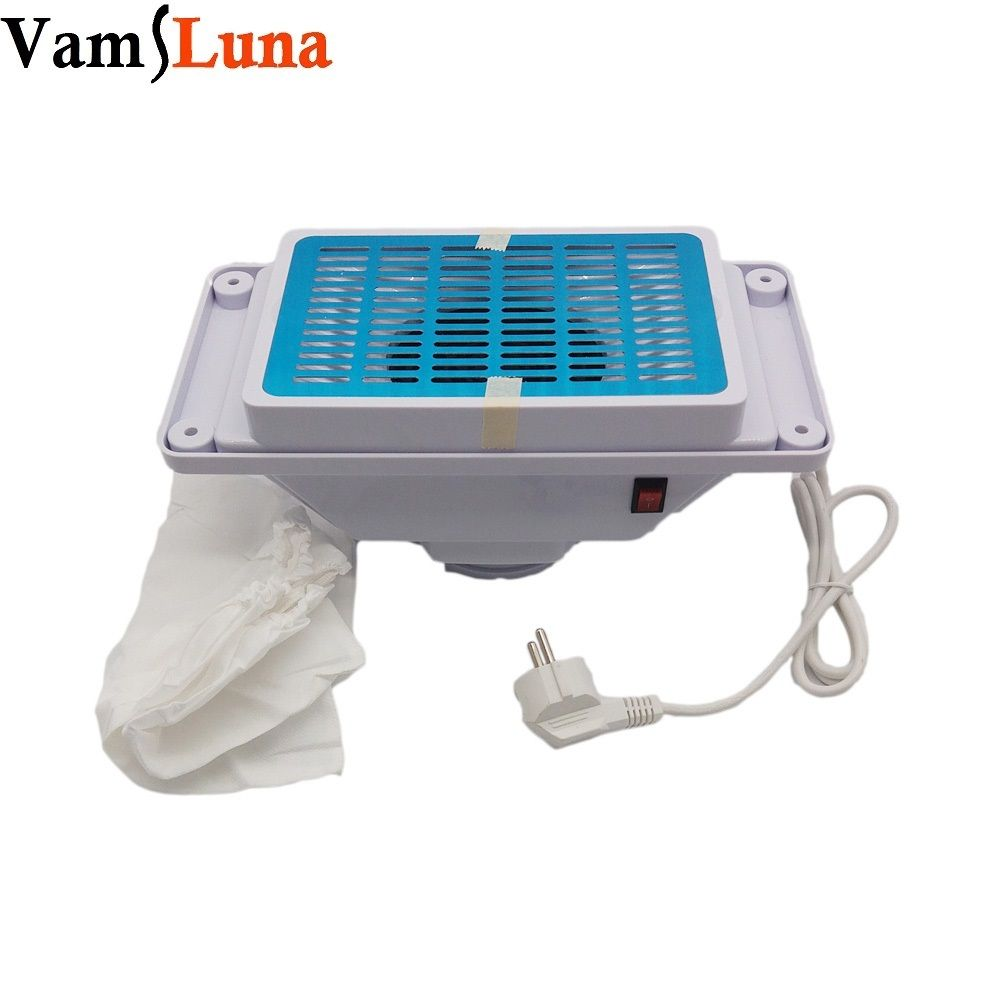 Manicure Table Nail Dust Collector With 2 Bags - Nail Vacuum Cleaner ...