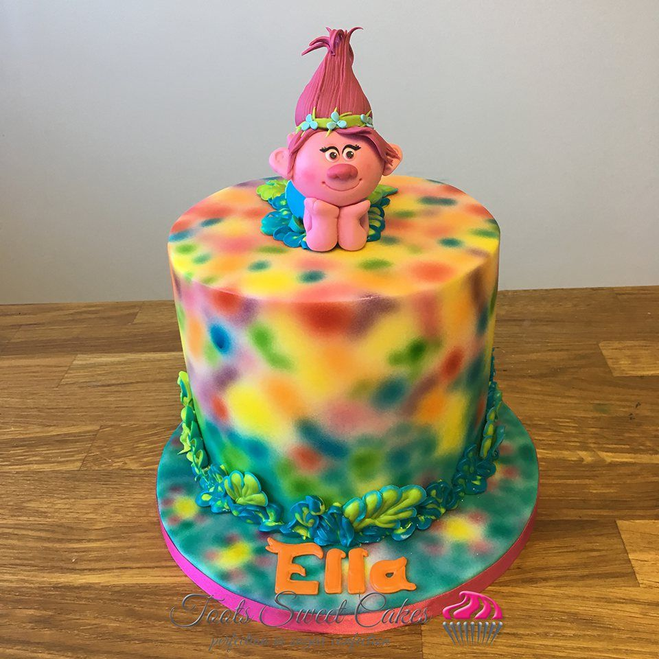 Trolls Kids Birthday Cake Alexas Birthday Pinterest Birthday