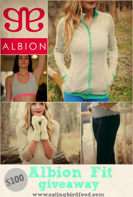 $100 @Albion Fit Giveaway on www.eatingbirdfood.com. Giveaway ends 3/15/2014