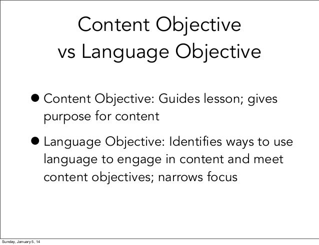 Meeting Language Objectives with Apps | Content and Language ...
