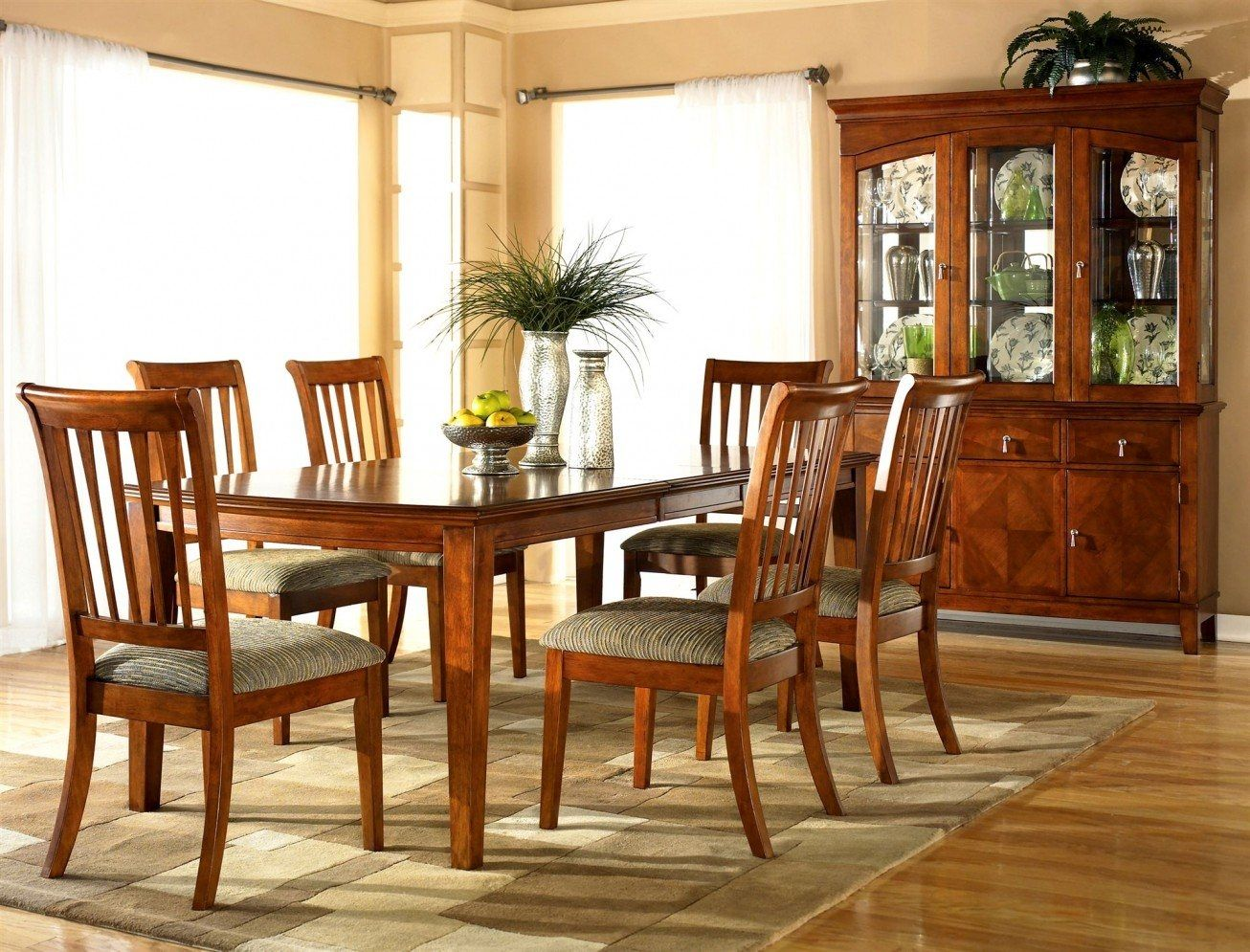 Picturesque cherry wood dining room set chairs decor ideas and