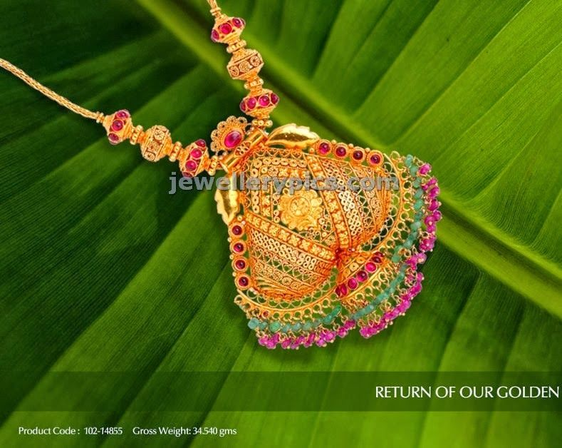 temple jewellery gold necklace design | Necklace beauty
