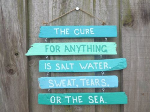salt water, sweat, tears or the sea