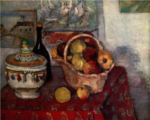 Still Life with Soup Tureen - Paul Cezanne