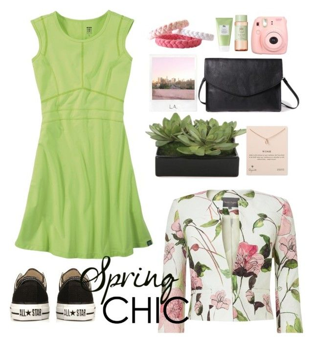 Spring Chic by gicreazioni on Polyvore featuring moda, Title Nine, Phase Eight, Converse, Forever 21, Dogeared, Pixi, Lux-Art Silks, Polaroid and etsy