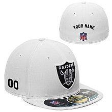 82d2de41 Men's New Era Oakland Raiders Customized Onfield 59Fifty Football ...