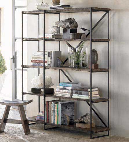 Photo of Railroad Tie Bookshelves and Console from VivaTerra