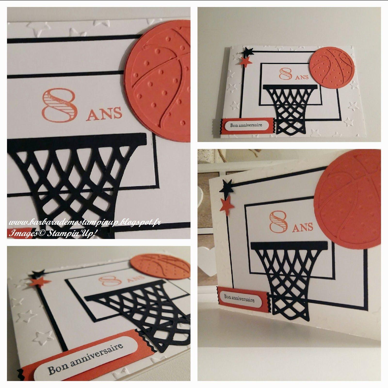 Carte D Anniversaire Enfant Theme Basket Carte Anniversaire