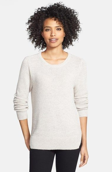 Halogen® Fluffy Crewneck Sweater (Regular & Petite) | Nordstrom