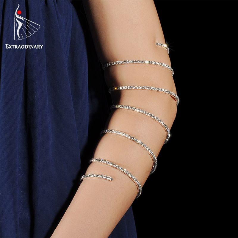 Belly Dance Accessory Arm Cuff Armband Bangle Spiral Upper Arm Bracelet jewelry