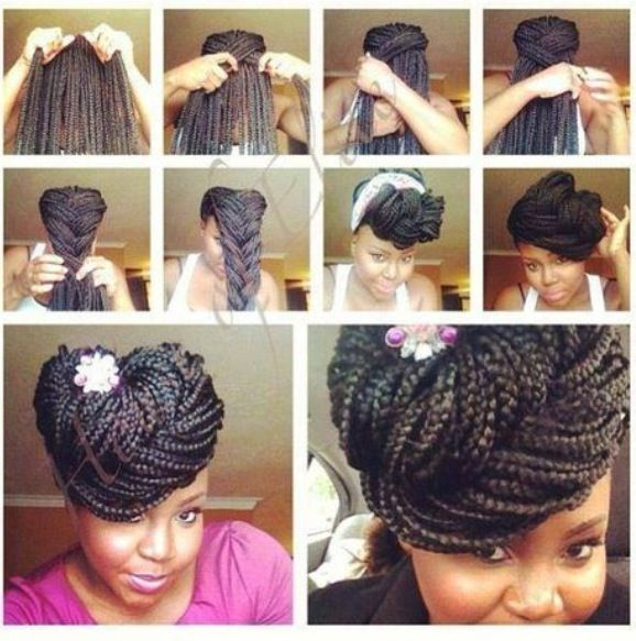 braided pin-up; box braids . | gorgeously not yours . | Pinterest ...