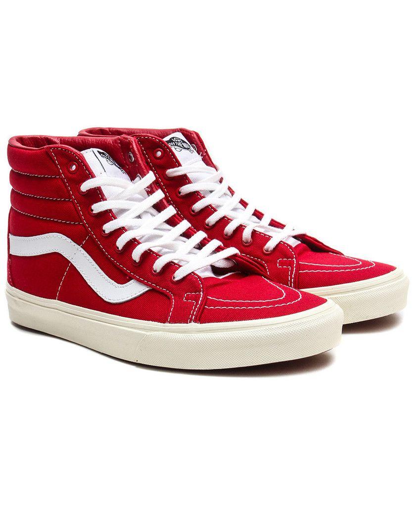 4cdd8b53efd23a Vans - 10 Oz. Canvas Sk8-Hi Reissue (Tango Red Marshmallow ...