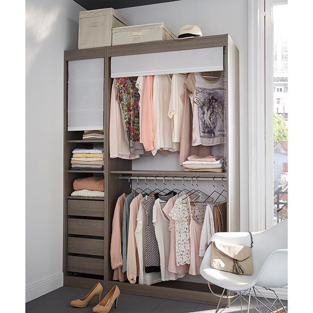 dressing ch ne cendr 140 cm perkin castorama rangement pinterest castorama dressing et. Black Bedroom Furniture Sets. Home Design Ideas