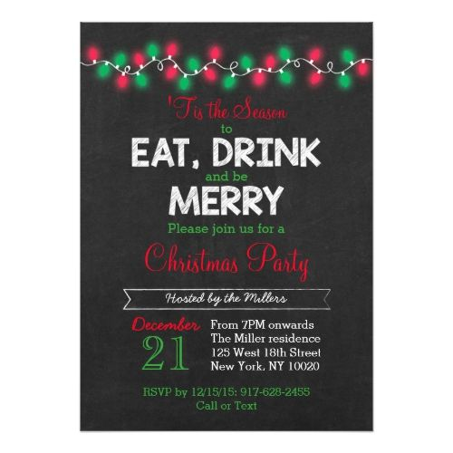 Christmas Lights Holiday Party Invitations 2017 Christmas Card - holiday party invitation