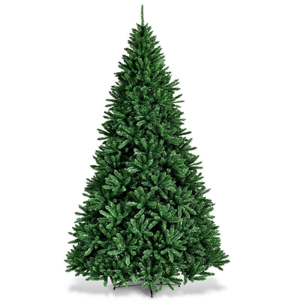 Costway 9 Ft Unlit Douglas Full Fir Hinged Artificial Christmas Tree With 3594 Tips Cm22066 The Home Depot Christmas Tree Artificial Christmas Tree Metal Christmas Tree
