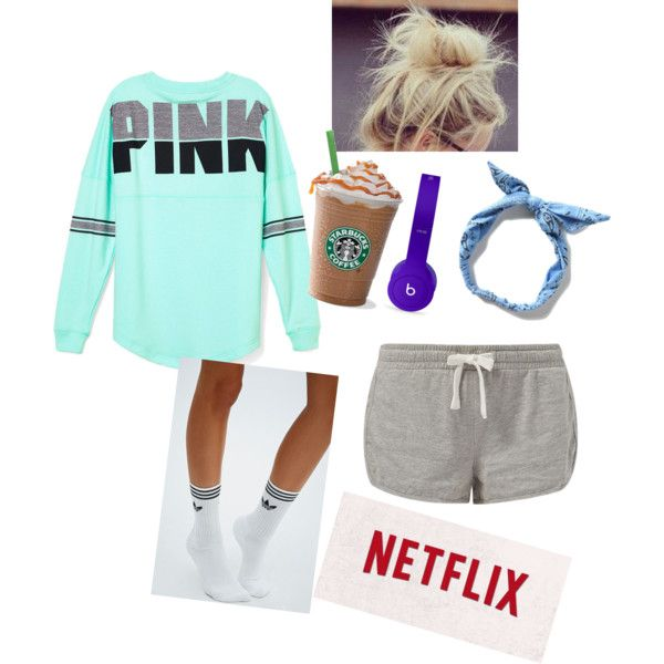 Weekend outfit by anna-lsabell on Polyvore featuring polyvore, fashion, style, Victoria's Secret PINK, adidas and Beats by Dr. Dre