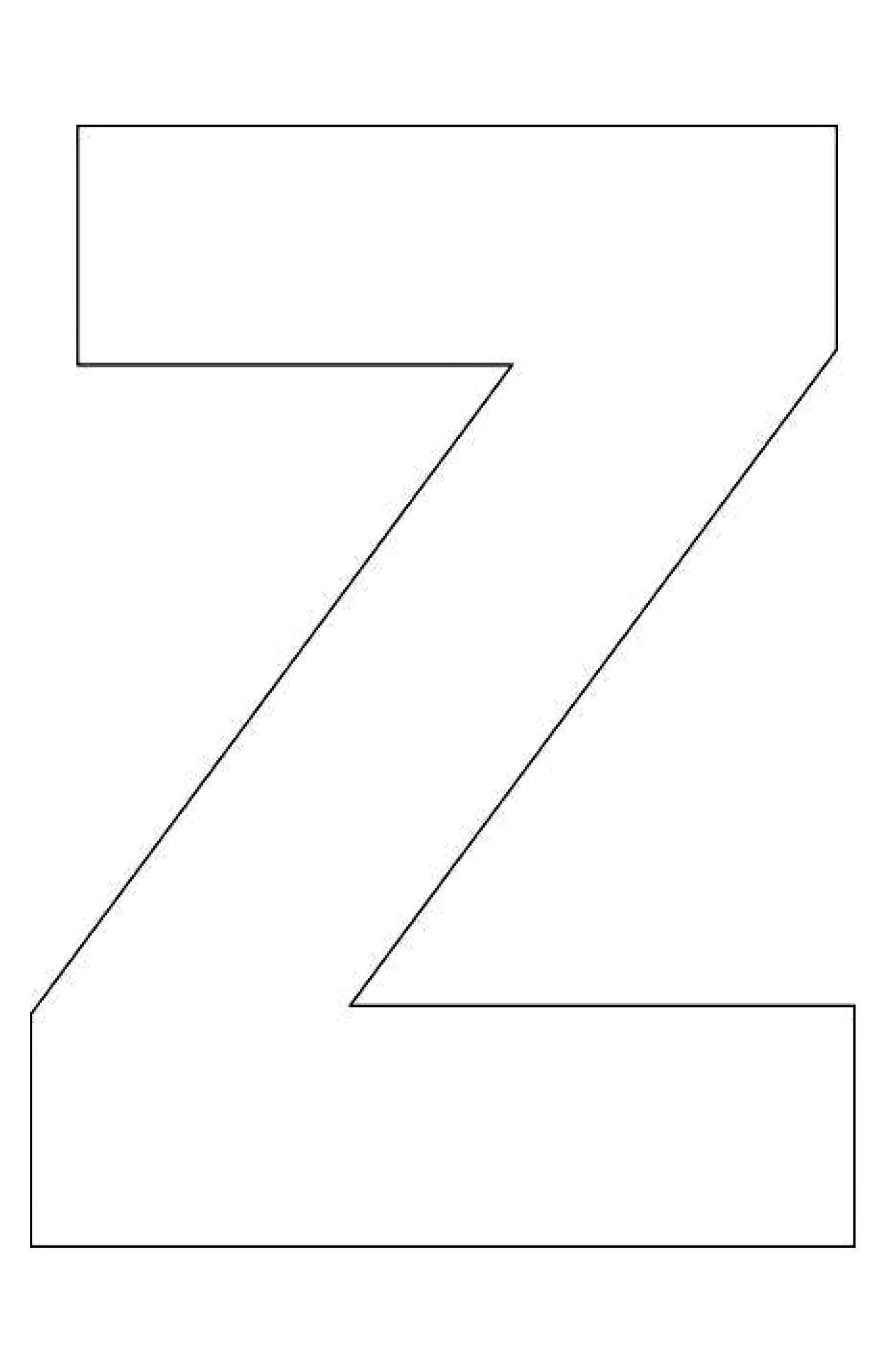 Alphabet Letter Z Template For Kids