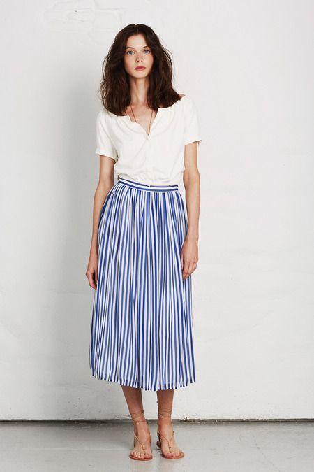 0f90f19da Falda rayada | Looks / Style en 2019 | Moda, Moda estilo y Faldas de ...