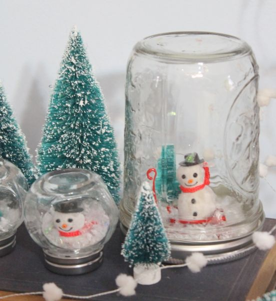 Christmas Snow Globes Diy.Waterless Snow Globes Kids Craft Paint And Crafts Snow