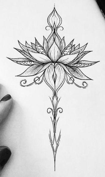 51+ Ideas tattoo compass simple lotus flowers for 2019