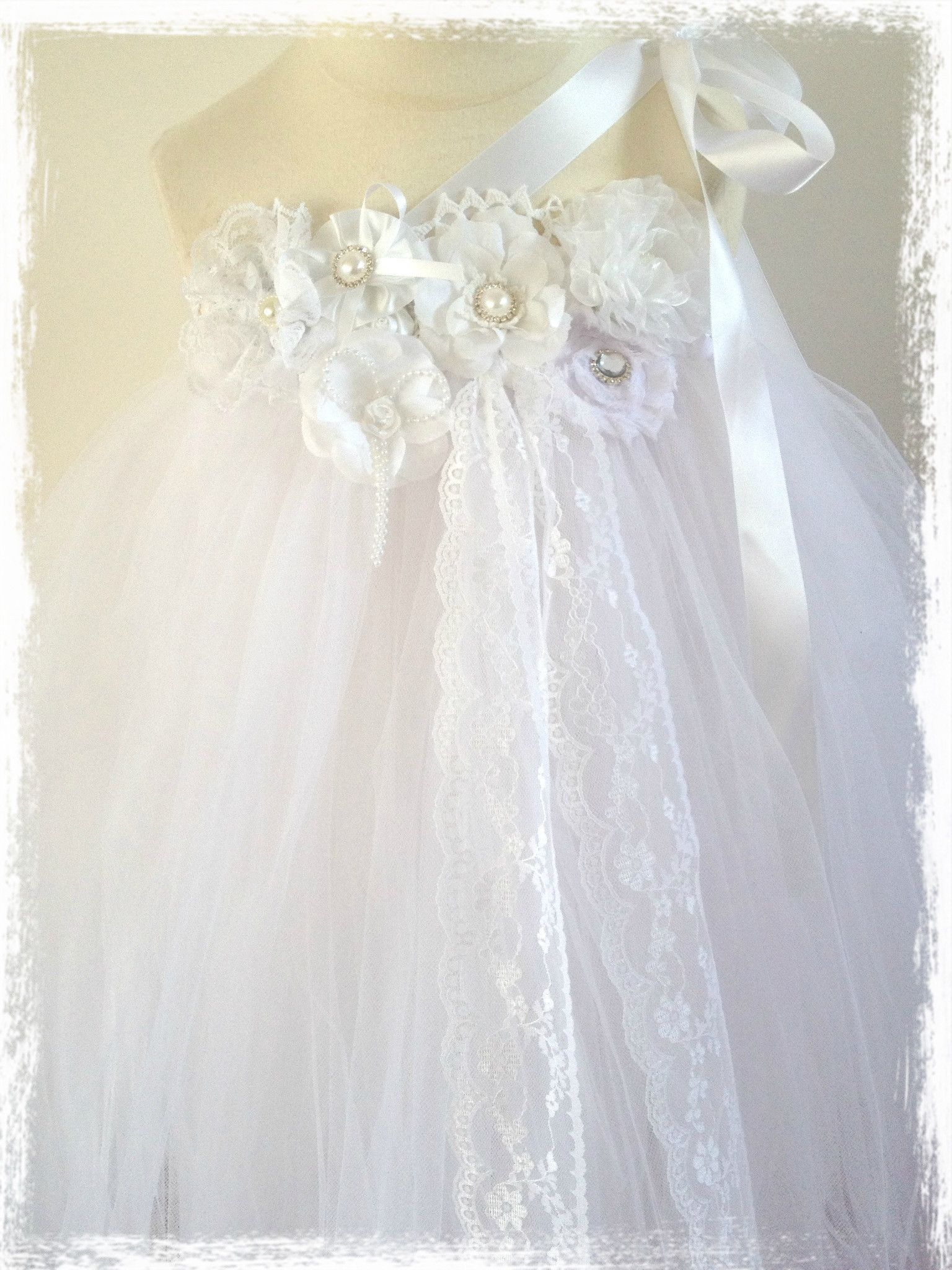 Baby & Girl Christening and Flower Girl Lace Tutu Dress TUFW74