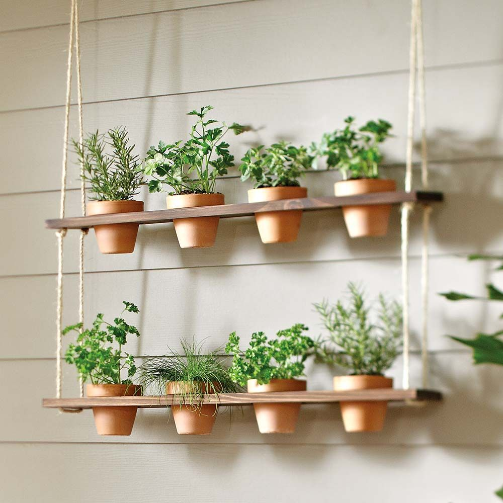 How to Make a Hanging Herb Garden Planter The Home Depot