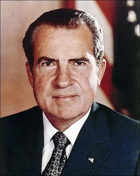 Who Was Richard Nixon Vice President: President Richard Nixon Portrait