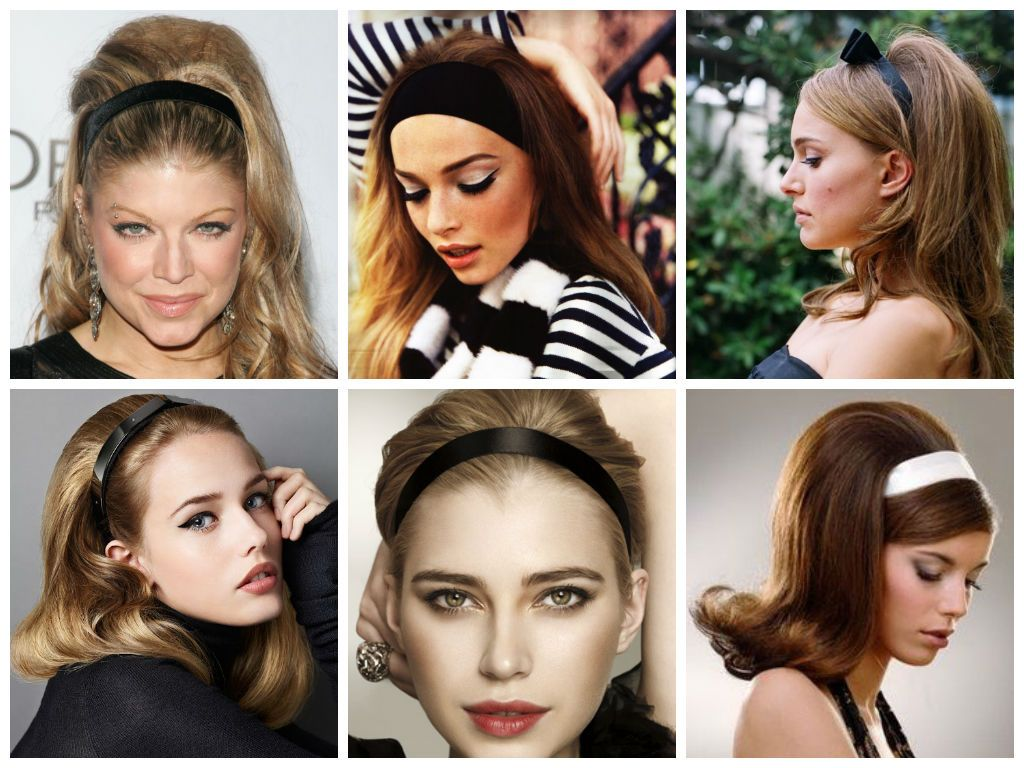 Hairstyles With A Thick Headband Hair World Magazine Hair Styles Mod Makeup Vintage Hairstyles