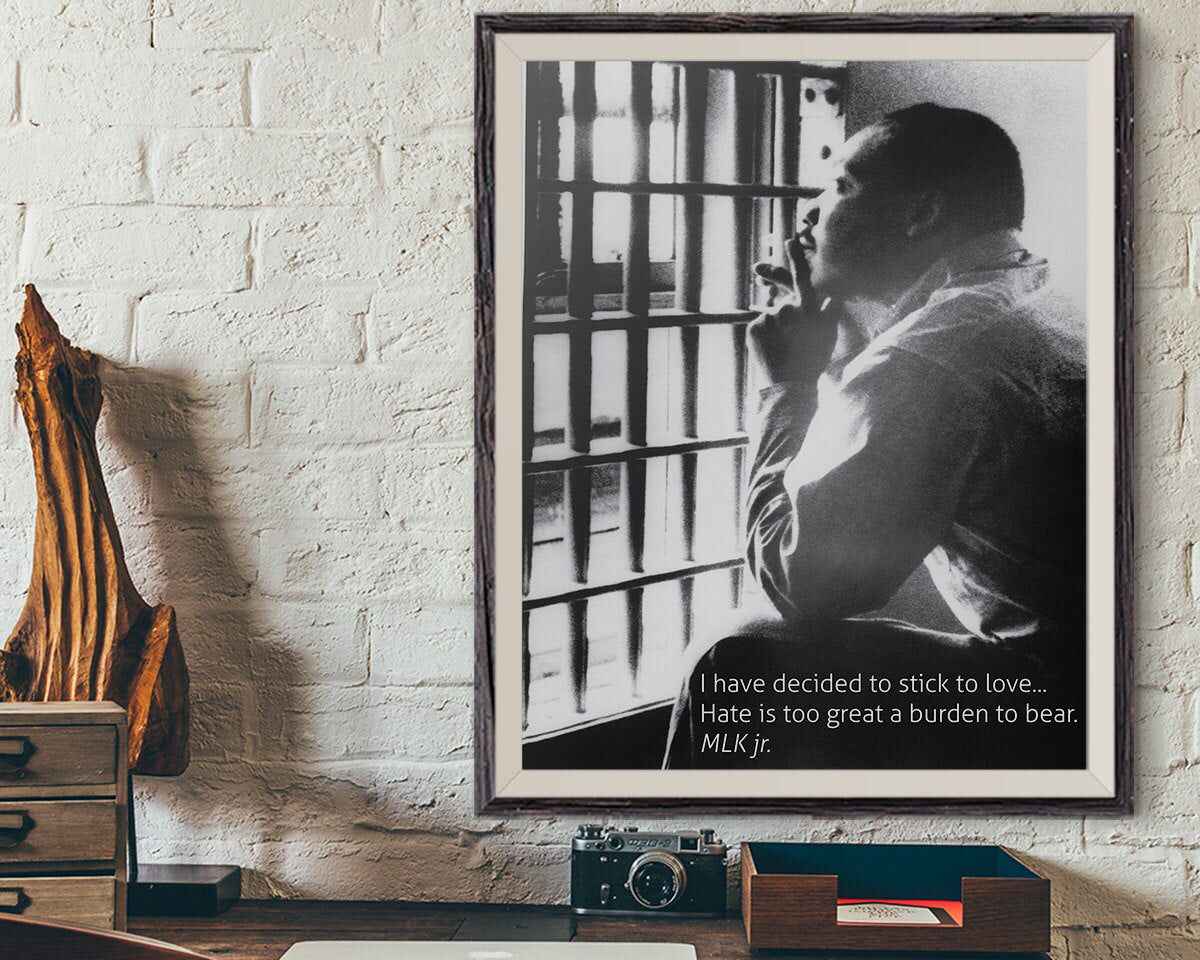 Dr Martin Luther King Jr Poster, MLK Jr Quote, MLK Day Retro Poster Print, African American History, Vintage Poster Wall Art Print, Dr MLK