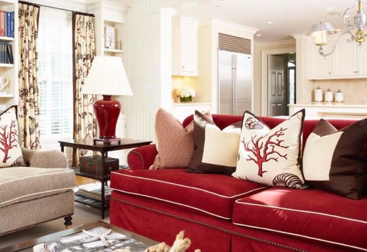pindesignskatrina on sofas  red couch living room