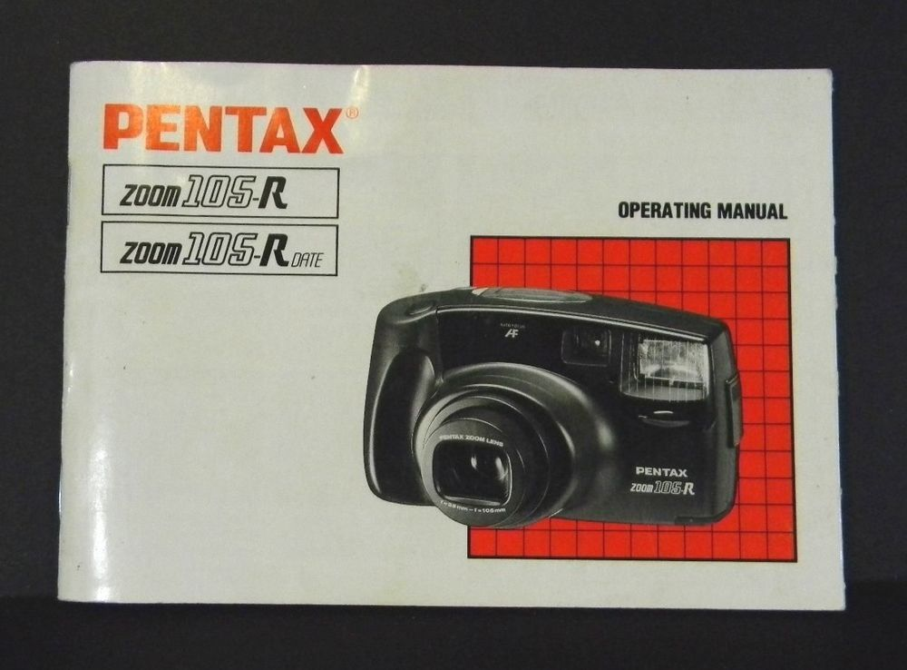 pentax zoom 105 r camera instruction operating manual 1991 rh pinterest com pentax zoom 105-r manual Zoom User Manual
