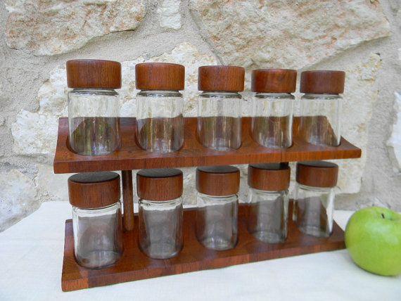 Exceptional Vintage Mid Century Modern Spice Rack Teak Digsmed Denmark